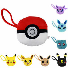 Cute Plush Women Girl Cartoon Pokemon Pikachu Soft Wallet Change Coin Purse Bag