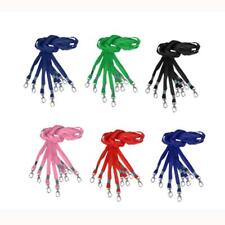 10x 40cm Lanyard ID Name Badge Business Card Key Holder Case Neck Strap 5 Colors