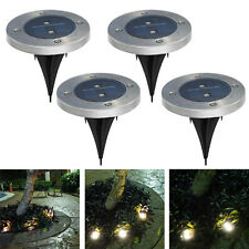 Solar Powered LED lamp Stainless Steel In Ground light Outdoor Garden Path
