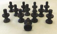 LOT 12 Knobs Bases Stems DIY Make your Own Black FREE Shipping