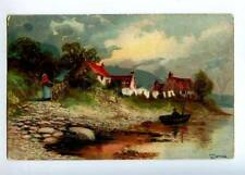 157692 FISHING Fisherman in Boat by JOTTER vintage PFB PC