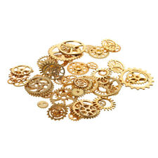 100g Mixed Alloy Steampunk Gear Charms Pendant for DIY Jewelry Making 1-3cm