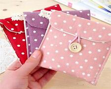 Lady Linen Sanitary Napkin Towel Pad Small Mini Bags Case Pouch Holder Chic J
