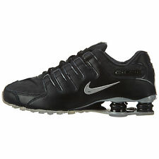 Nike Shox NZ PA Mens 724531-003 Black Silver Leather Running Shoes Size 11.5