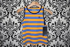 NEW with Tags HURLEY Boys Tank Top Striped Shirt Blue Orange Size 4 XS 6 M 7 L