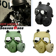 Airsoft Full Face Anti-Fog Gas Turbo Fan System Mask Wargame Protector Cosplay