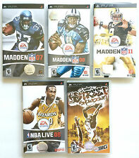 PSP EXCELLENT LOT OF 5 GREAT SPORTS GAMES ~ SONY PLAYSTATION PORTABLE PSP GAMES