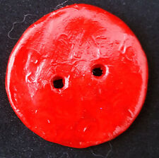 Hand Crafted Clay Buttons. Approx 4cm Diameter. From knitwitzuk.