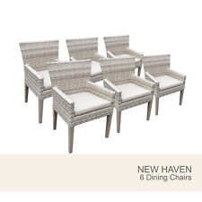 6 New Haven Dining Chairs With Arms - Beige