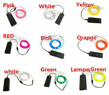 Wholesale Flexible Car Dance Party Neon Light Glow EL Wire Rope Tube+Controller