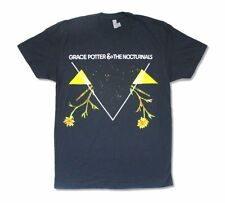 Grace Potter and the Nocturnals Geometric Vine Navy Blue T Shirt New Adult