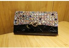 Purse Women Handbag Wallet Shoulder Tote Zip Bling Crystal Clutch Chain Lady Bag