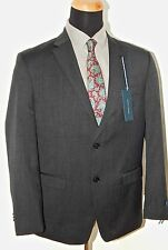 Tommy Hilfiger 100% Wool Solid Gray Mens Suit Trim Fit, VARIOUS SIZES