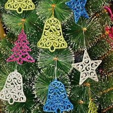 6x Hot Cute Xmas Tree Bell Star Hanging Ornament Christmas Home Party Decoration