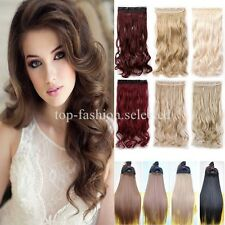 One Piece Clip in Thick Hair Extensions 3/4 Full head Long Wavy Curly Straight