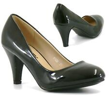 WOMENS LADIES LOW MID HEEL MARY JANE WORK PARTY COURT SHOES PUMPS SIZE