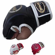 Farabi Tapout MMA Gloves Leather Training Punching Kickboxing Martial Arts