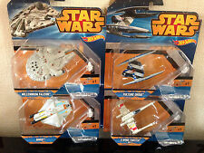 Hot Wheels Star Wars Millennium Falcon, Ghost, Vulture Droid & X-Wing Fighter Re