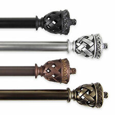 """Curtain Rod 3/4"""" OD #94 choose from 4 colors & 4 sizes 28""""-170"""""""