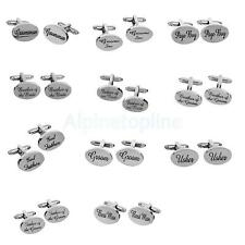 Wedding Gifts Mens Shirt Cufflinks Oval Silver Cuff Links Accessories