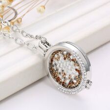 2017 MY Coin LARGE CHARMS Mi Crystal Disc Holder Locket Pendant Necklace Jewelry