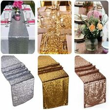 "12""x108"" Gold Silver Sequin Table Runner Wedding Party Decorations Table Decor"