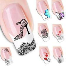 Nail Art Sticker Water Transfer Stickers Cute Love Heart Tips 3D Nail Decoration