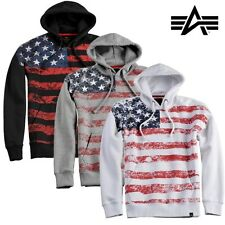Alpha Industries Men'S Hoodie Hoody Flag Sweater With Hoodie S to 3XL