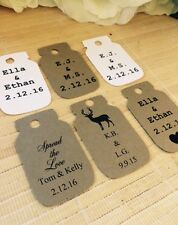 24 Personalized wedding favor tags, mason jar tags, rustic favors, treat favor t