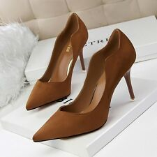 Slim High Heels Suede Pointed Toe Party Stilettos Classics Pumps Women OL Shoes
