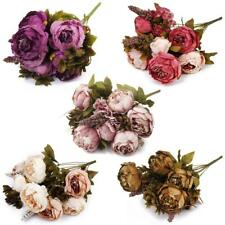 1 x Bouquet Artificial Peony Silk Flowers Wedding Party Home Decoration DIY Posy