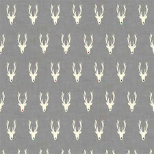 Scandi 3 Christmas Quilt Fabric Reindeer Makower UK Premium Cotton