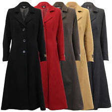 Ladies Coat Wool Cashmere Womens Jacket Outerwear Trench Overcoat Lined Winter