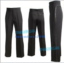 NWT Men Rhythm Ballroom Latin Dance Salsa Pants Smooth Practise Dance Pants Blac