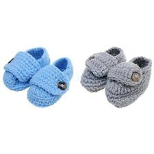 Baby Infant Toddler Crib Shoes Boys Girl Winter Soft Sole Crochet Knit Prewalker