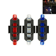 Rear Safety 5 LED Bicycle Cycling Tail USB Rechargeable Warning Light Bike Red