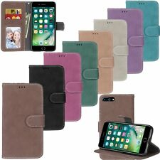 Retro Flip Leather Wallet Cards KickStand Magnetic Case Cover For Apple iPhone