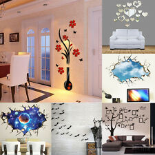 14 Style Home 3D Removable Decor DIY Wall Stickers Living Room Home Decoration