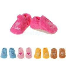 Baby Girls Boys Toddlers Prewalker Shoes Warm Coral Fleece Booties Boots Sneaker