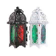 Retro Hollow Candle Holder Tealight Candlestick Hanging Lantern Bird Cage Style