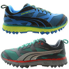 Puma Faas 500 TR MensTrainers Running Shoes Blue Yellow Green Grey Lace 304596