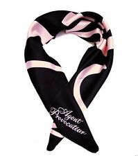AGENT PROVOCATEUR SIGNATURE BLACK PINK SILK SCARF BNWT GIFT WRAPPED