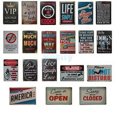Pub Retro Style Vintage Metal Tin Sign Poster Plaque Plate Club Bar Home Decor