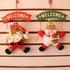 Merry Christmas Door Wall Hanging Snowman Santa Deer Snowman Tree Party Ornament