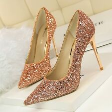 Sequin Sexy Lady Pointed Toe Classics Pumps High Heels Women Party Wedding Shoes