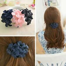 Lovely Coromose Women Girl Handmade Flower Hair Clip Hair Pin Claw Hair Barrette