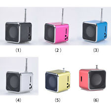 Fashion Mini Stereo Media Speaker LCD Display USB Digital Radio FM MP3 SD TF ZX