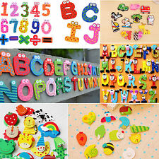 Be 15/26pc Wooden Magnetic Fridge Magnet Number Alphabet Letter Educational Toys