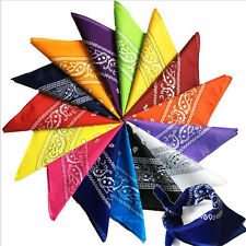 New Paisley Bandana Head wrap  Neck Scarf  Handkerchief Wristband