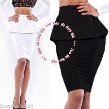Clubwear Party Sexy Women Peplum Slim Fitted Tight Skirt XS S M L XL 2XL 3XL 4XL